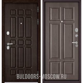 Стальная входная дверь Бульдорс STANDART-90 Дуб Шоколад 9S-111/Дуб шале серебро 9S-109