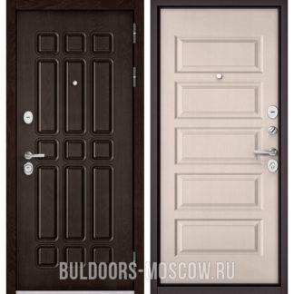 Стальная дверь Бульдорс STANDART-90 Дуб Шоколад 9S-111/Дуб светлый матовый 9S-108