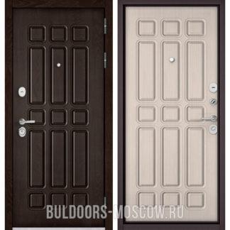 Входная металлическая дверь Бульдорс STANDART-90 Дуб Шоколад 9S-111/Ларче бьянко 9S-111