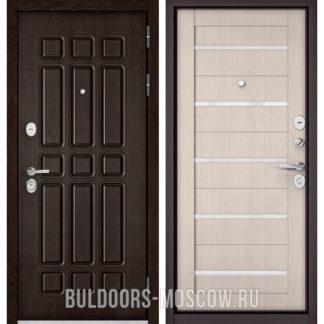 Купить стальную дверь Бульдорс STANDART-90 Дуб Шоколад 9S-111/Ларче Бьянко CR-3