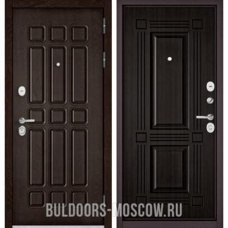 Металлическая дверь Бульдорс СТАНДАРТ-90 Дуб Шоколад 9S-111/Ларче темный 9S-104