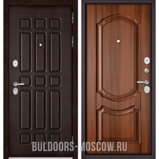 Входная металлическая дверь Бульдорс Стандарт-90 Дуб Шоколад 9S-111/Орех лесной 9SD-4
