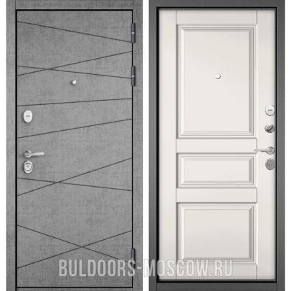 Входная дверь Бульдорс СТАНДАРТ-90 Штукатурка серая 9S-130/Белый софт 9SD-2