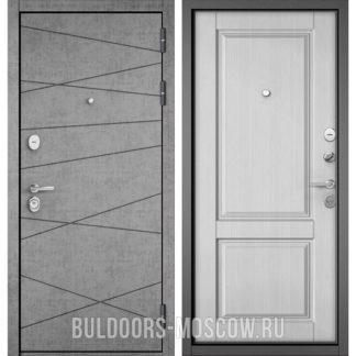Купить входную дверь Бульдорс STANDART-90 Штукатурка серая 9S-130/Дуб белый матовый 9SD-1