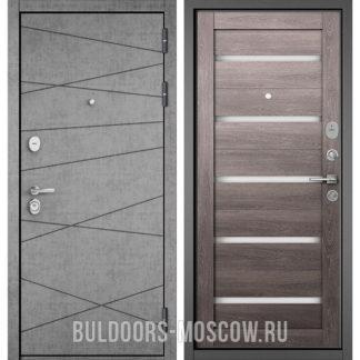 Входная дверь Бульдорс СТАНДАРТ-90 Штукатурка серая 9S-130/Дуб дымчатый CR-3