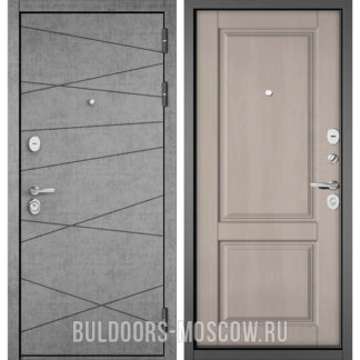 Железная дверь Бульдорс Стандарт-90 Штукатурка серая 9S-130/Дуб шале белый 9SD-1