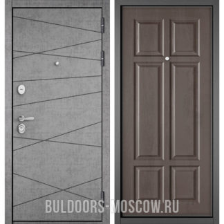 Стальная дверь Бульдорс СТАНДАРТ-90 Штукатурка серая 9S-130/Дуб шале серебро 9S-109