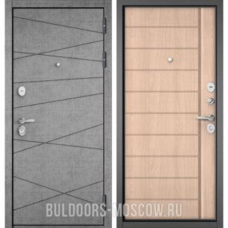 Входная дверь Бульдорс STANDART-90 Штукатурка серая 9S-130/Ясень ривьера крем 9S-136