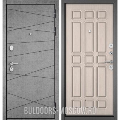 Купить входную железную дверь Бульдорс STANDART-90 Штукатурка серая 9S-130/Ларче бьянко 9S-111