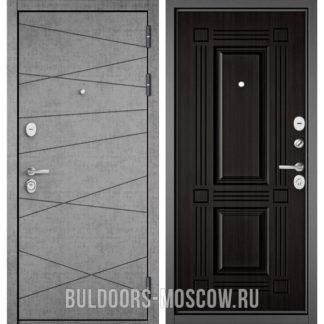 Входная металлическая дверь Бульдорс СТАНДАРТ-90 Штукатурка серая 9S-130/Ларче темный 9S-104